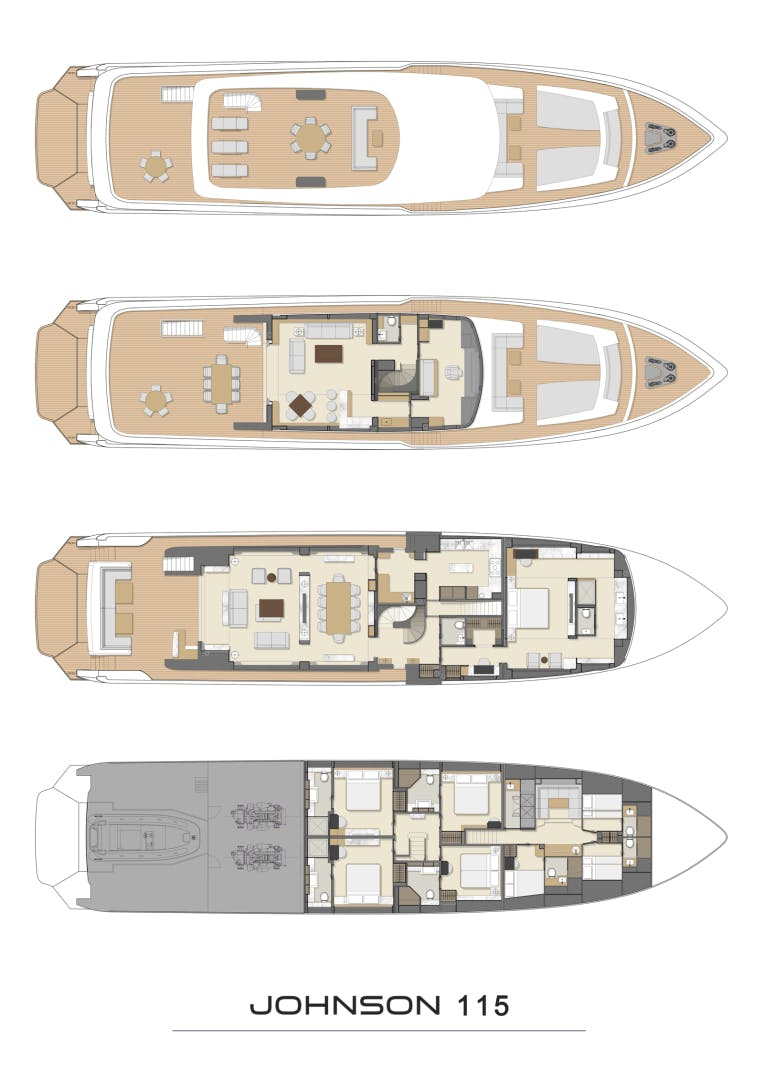 2022 Johnson 115' SKYLOUNGE w/FB w/ON-DECK MASTER JOHNSON 115 SKYLOUNGE  | Picture 7 of 23