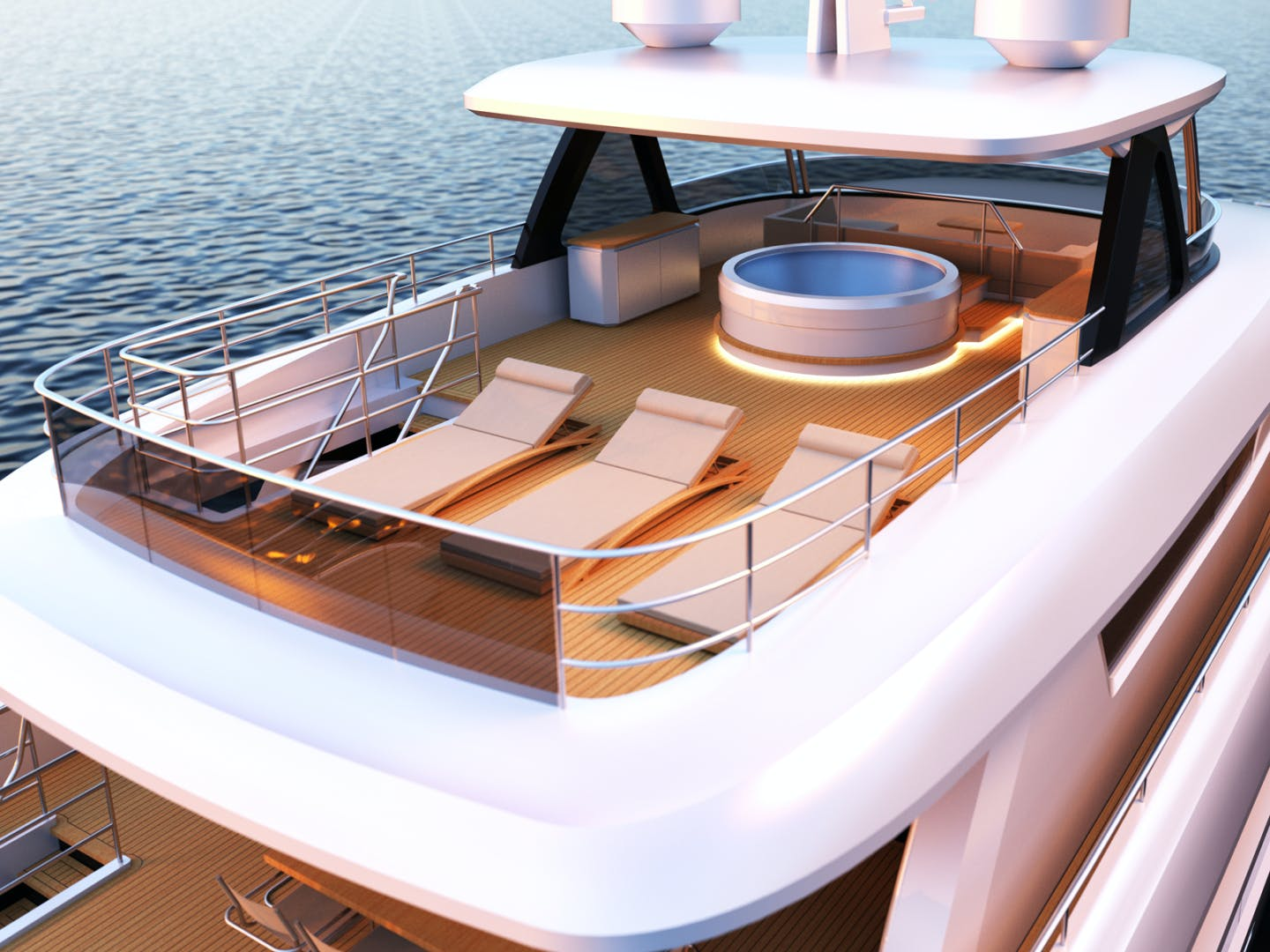 2022 Johnson 115' SKYLOUNGE w/FB w/ON-DECK MASTER JOHNSON 115 SKYLOUNGE  | Picture 2 of 23