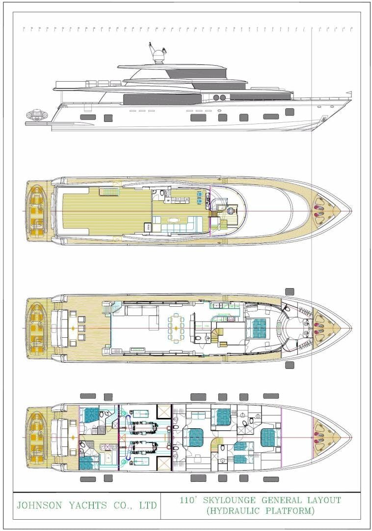 2024 Johnson 110' 110' Skylounge w/On-Deck Master JOHNSON 110 SKYLOUNGE | Picture 7 of 23