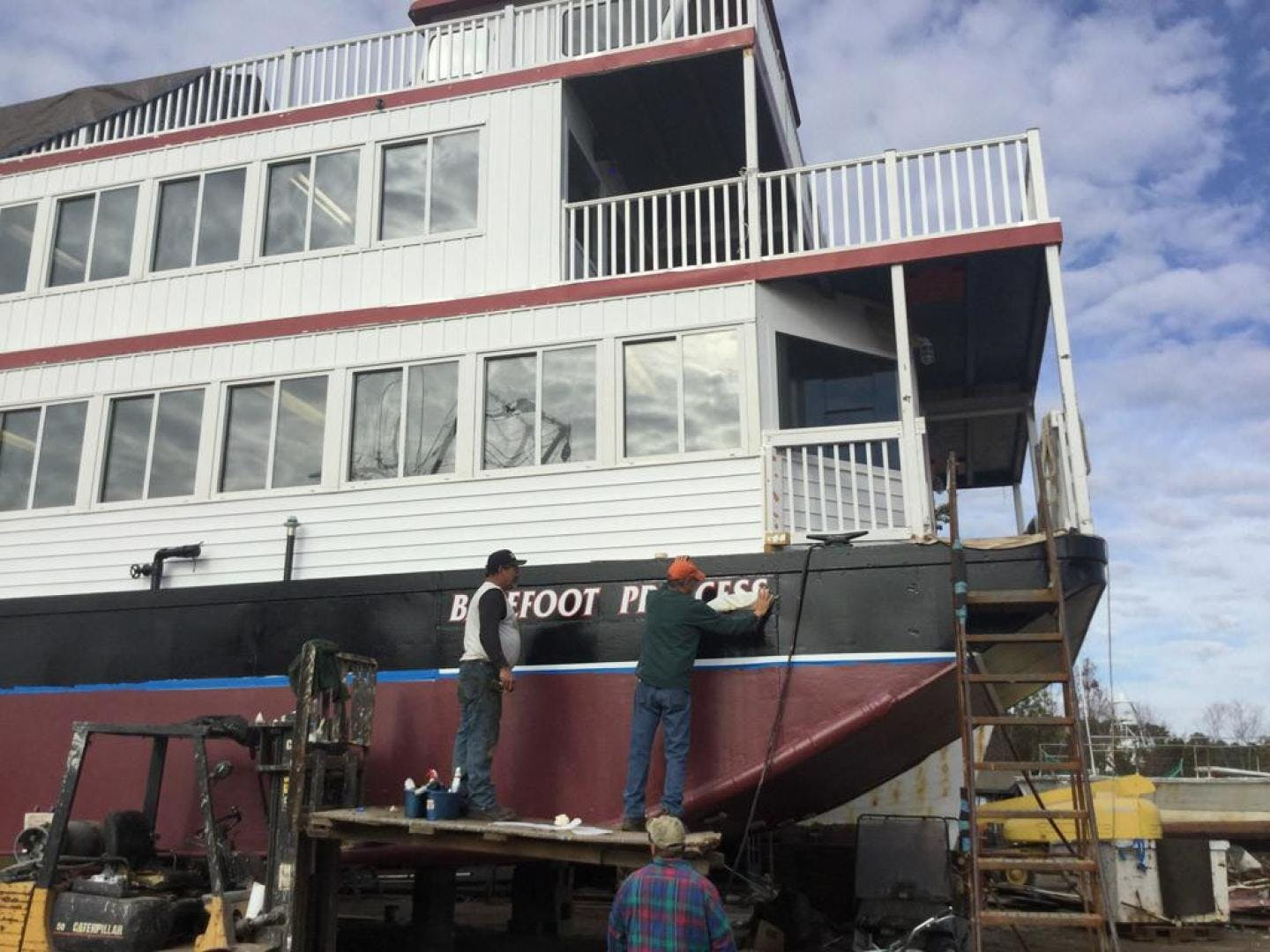 1996 Custom 64' Triple Deck Dinner River Boat Barefoot Princess | Picture 2 of 28