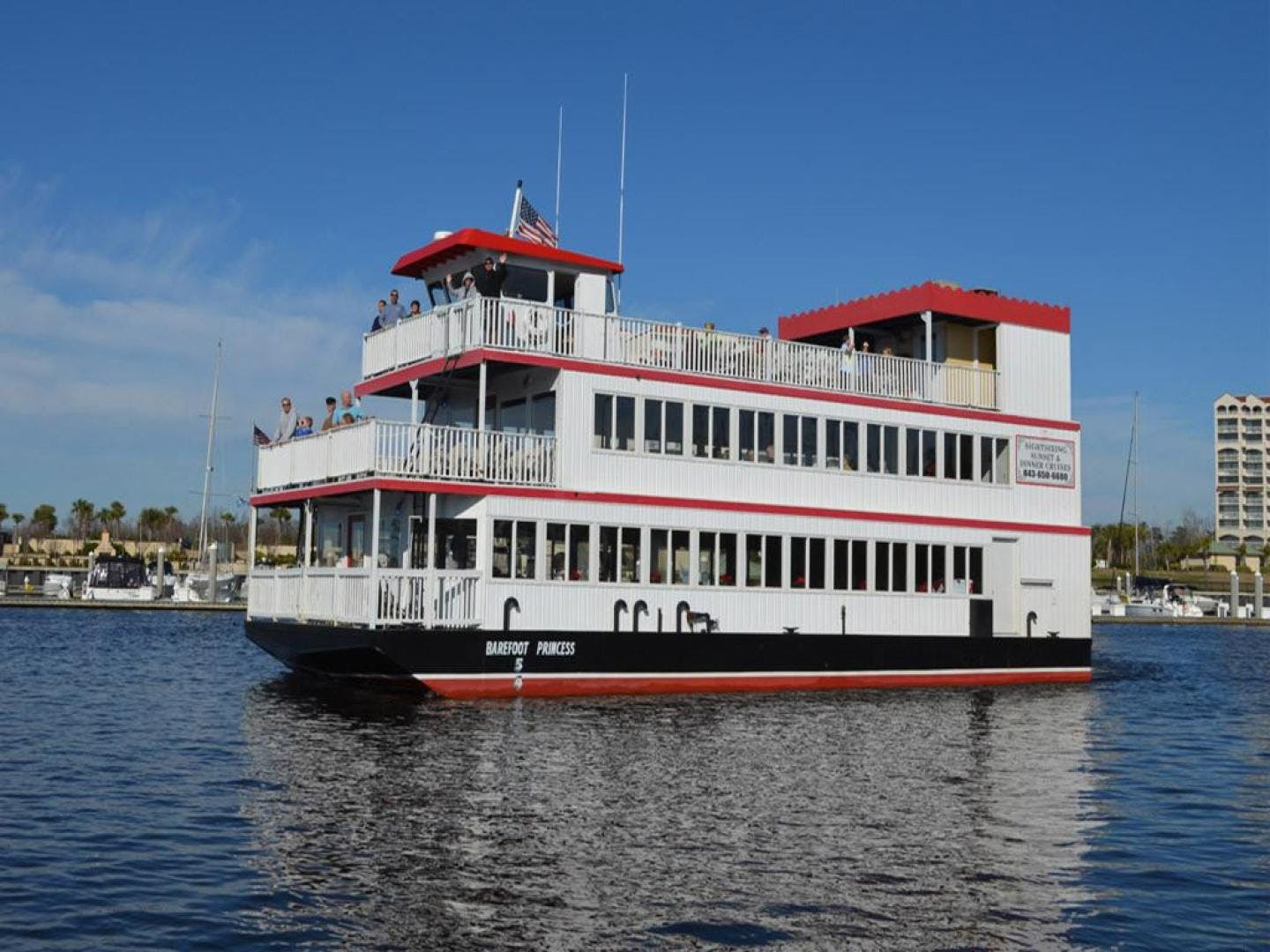 1996 Custom 64' Triple Deck Dinner River Boat Barefoot Princess | Picture 1 of 28