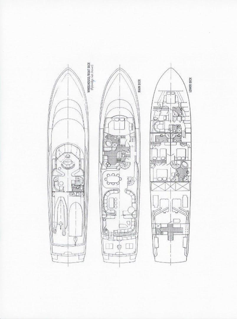 1994 Westport - Crescent 115' Tri-Deck Motoryacht LIFE OF RILEY   Picture 7 of 63