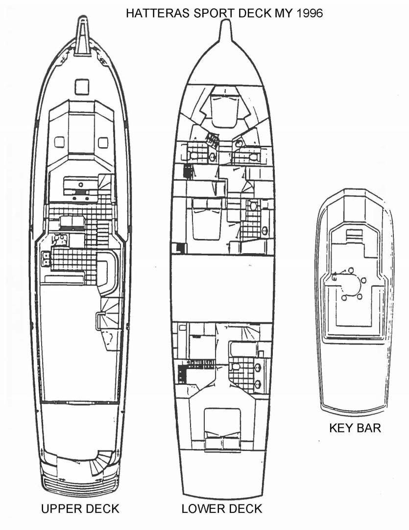 1996 Hatteras 74' Motoryacht Sport Deck DUCHESS | Picture 1 of 81