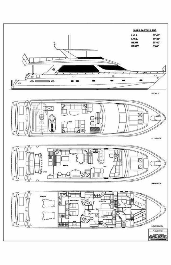 2001 Hargrave 82' Flybridge Motor Yacht GRACE   Picture 2 of 74