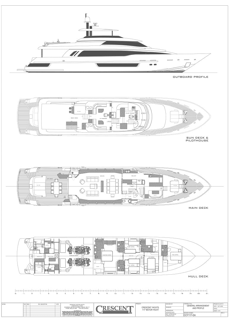 2020 Crescent 117' Custom Fast Pilothouse Yacht CRESCENT 117 | Picture 7 of 23