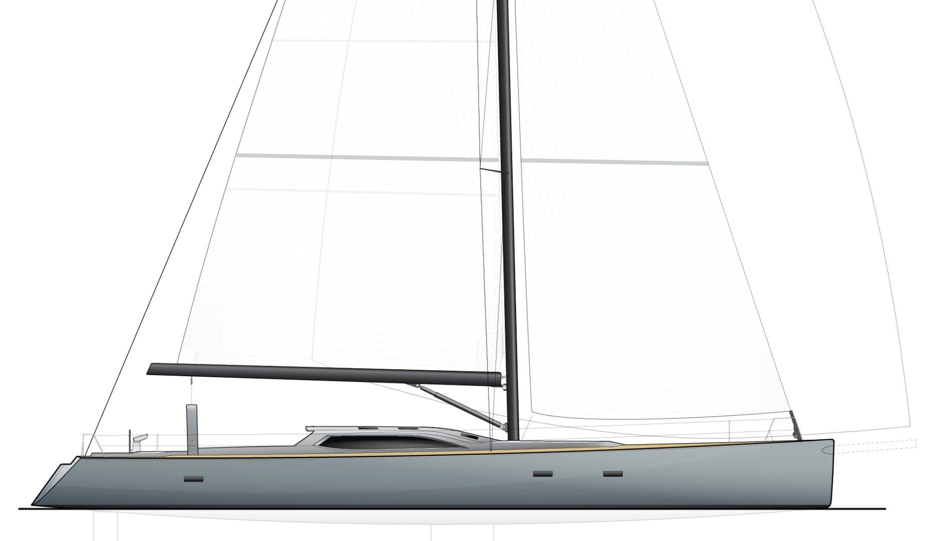1996 Goetz / Derecktor 77' Custom Sparkman & Stephens Designed Performance Sailing Yacht AANDEEL | Picture 7 of 24