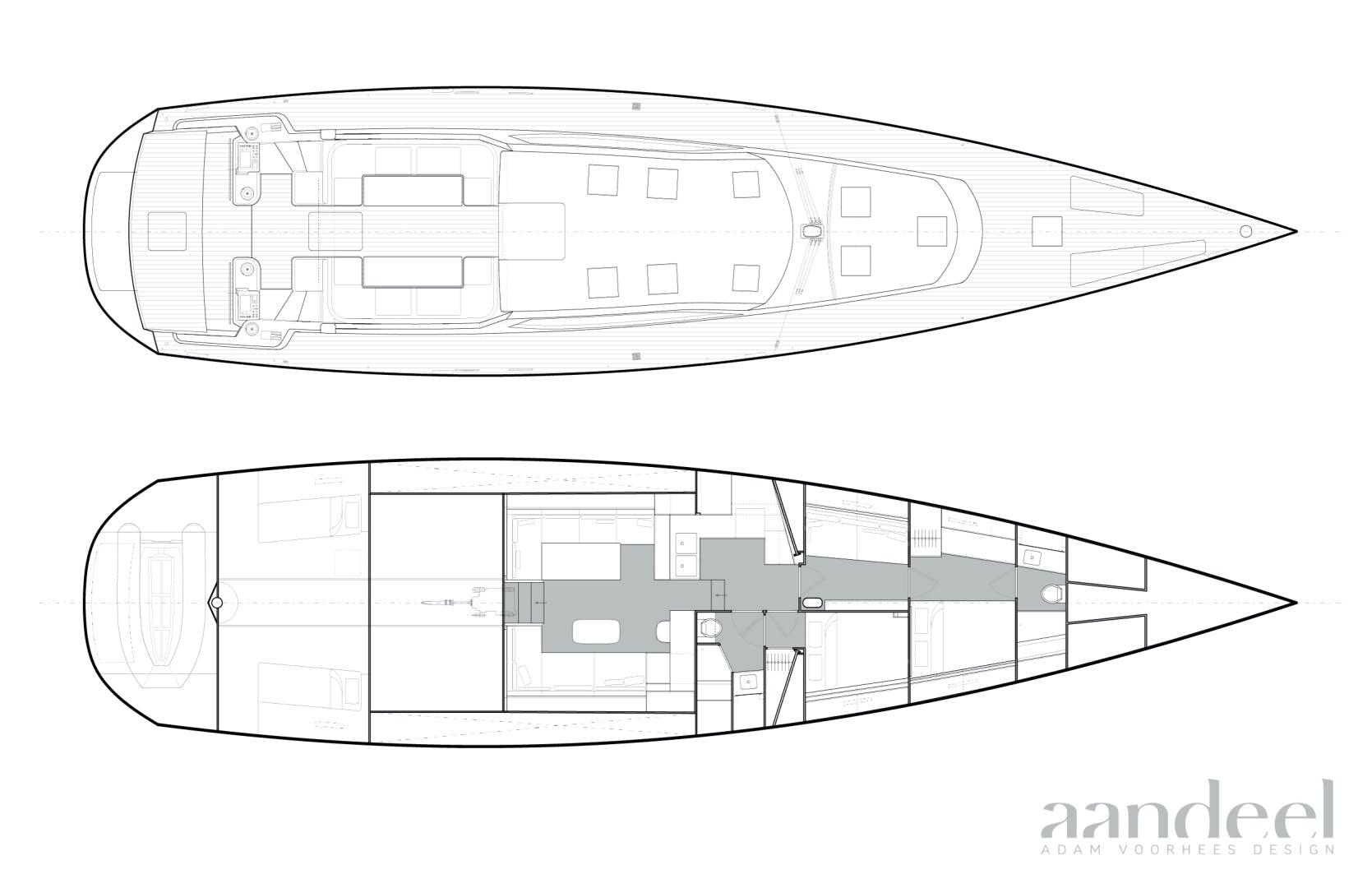 1996 Goetz / Derecktor 77' Custom Sparkman & Stephens Designed Performance Sailing Yacht AANDEEL | Picture 8 of 24