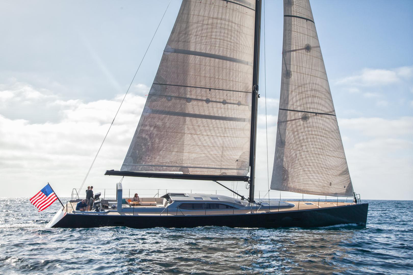 "1996 Goetz / Derecktor 77' Custom Sparkman & Stephens Designed Performance Sailing Yacht ""AANDEEL"""
