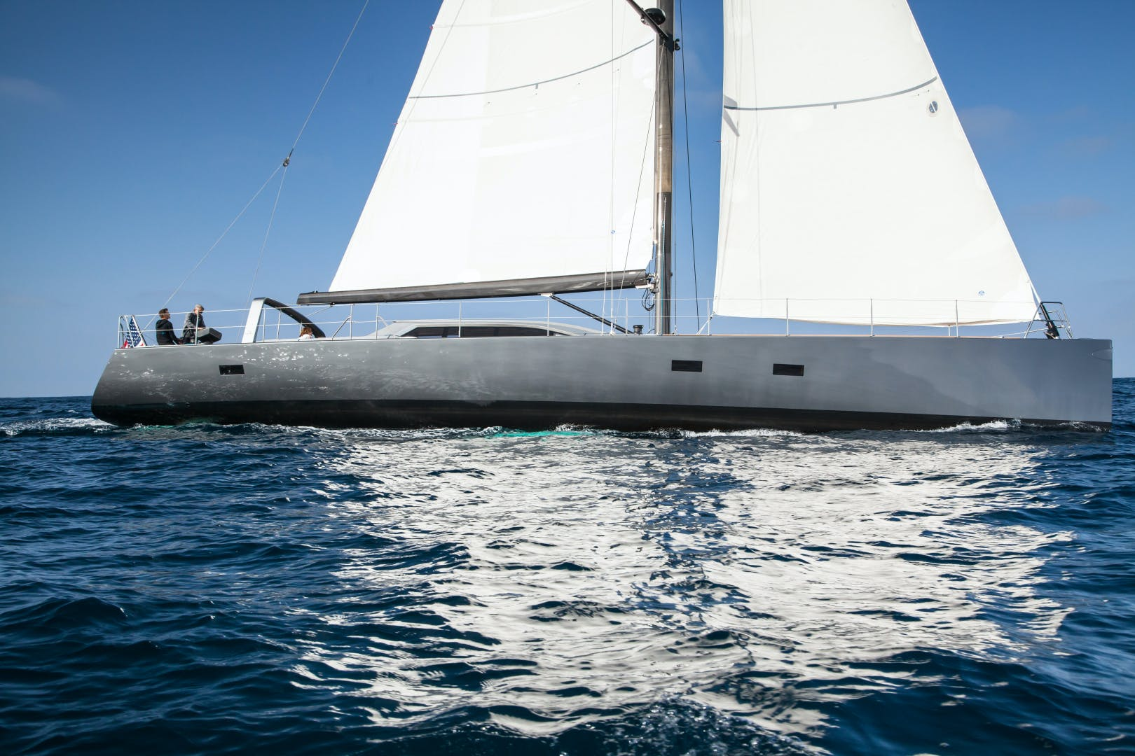 1996 Goetz / Derecktor 77' Custom Sparkman & Stephens Designed Performance Sailing Yacht AANDEEL | Picture 3 of 24