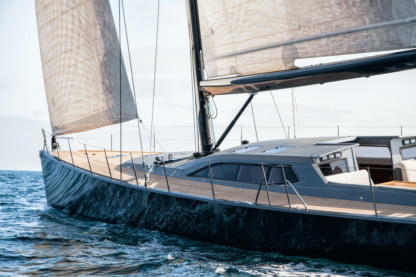 1996 Goetz / Derecktor 77' Custom Sparkman & Stephens Designed Performance Sailing Yacht AANDEEL | Picture 6 of 24