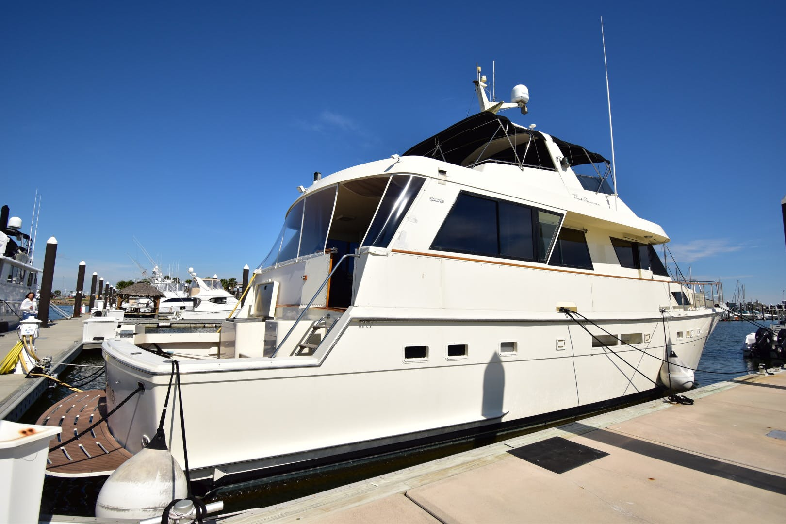 1989 Hatteras 67' 67 Cockpit Motor Yacht Why Knot Just Because | Picture 3 of 24