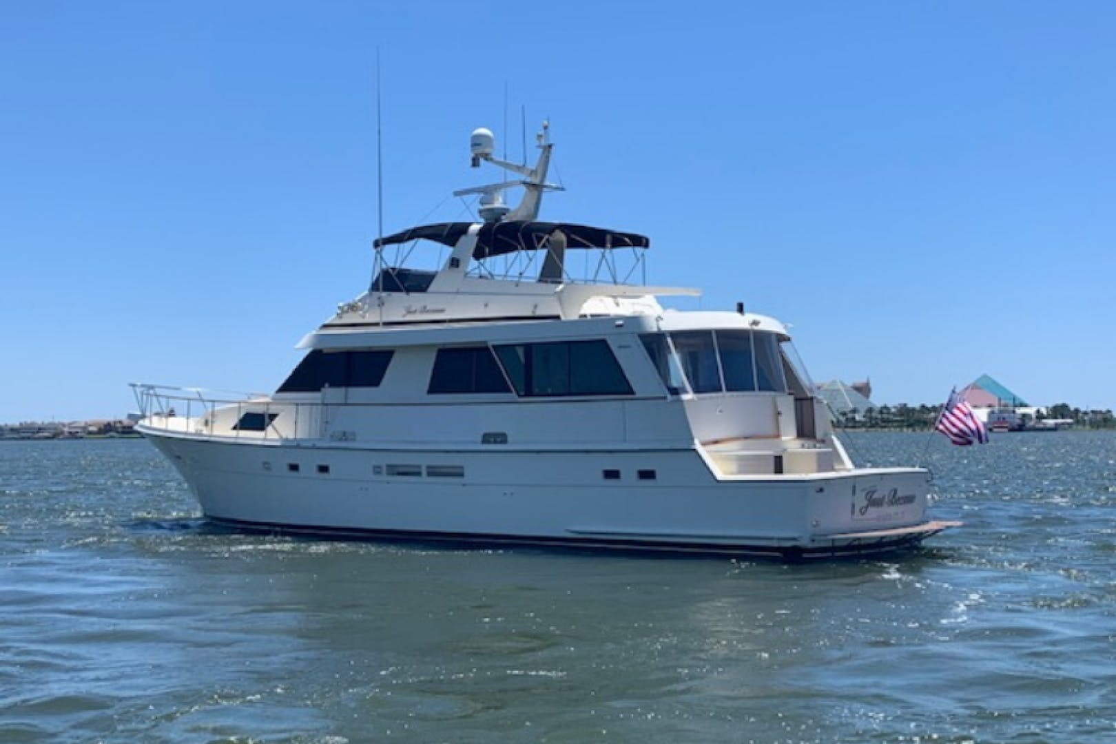 1989 Hatteras 67' 67 Cockpit Motor Yacht Why Knot Just Because | Picture 1 of 24