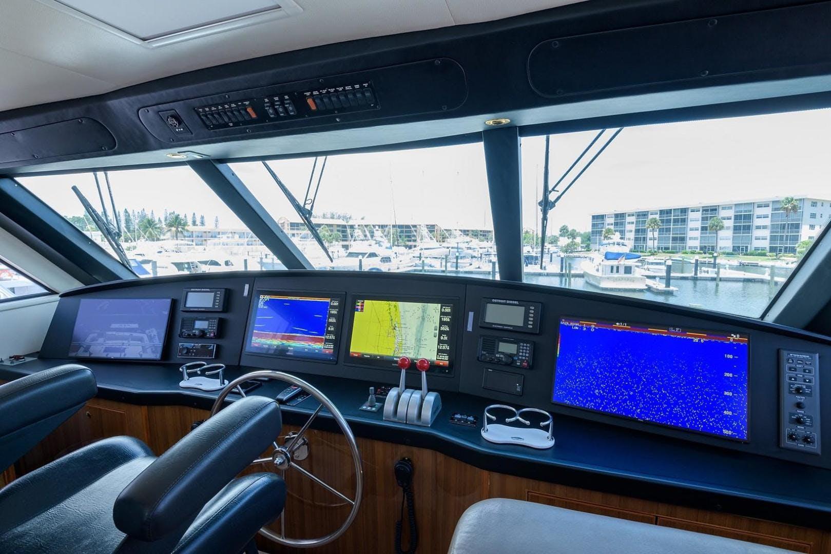 2005 Viking 61' 61 Enclosed Bridge Convertible Ya Ya Ya | Picture 4 of 63