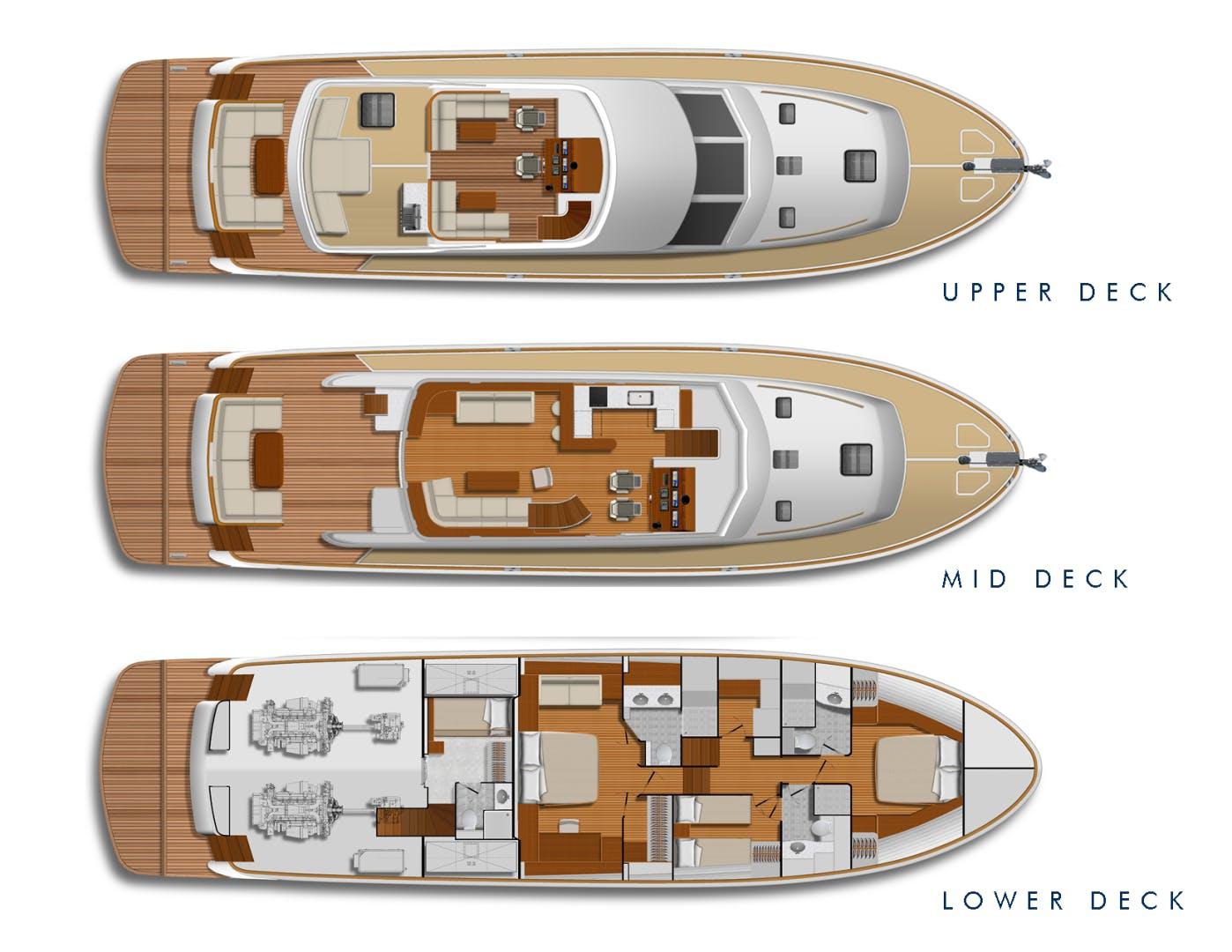 2022 Hunt Yachts 82' Ocean 76 Flybridge OCEAN 76 | Picture 8 of 8