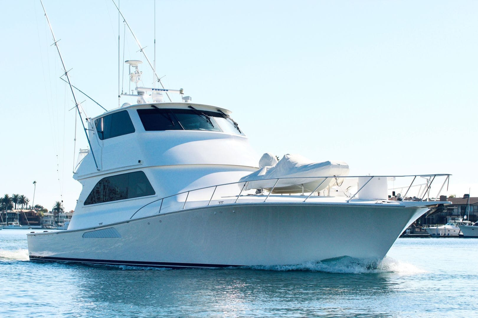 2001 Viking 65' 65 Enclosed Bridge Never Say Never | Picture 1 of 35