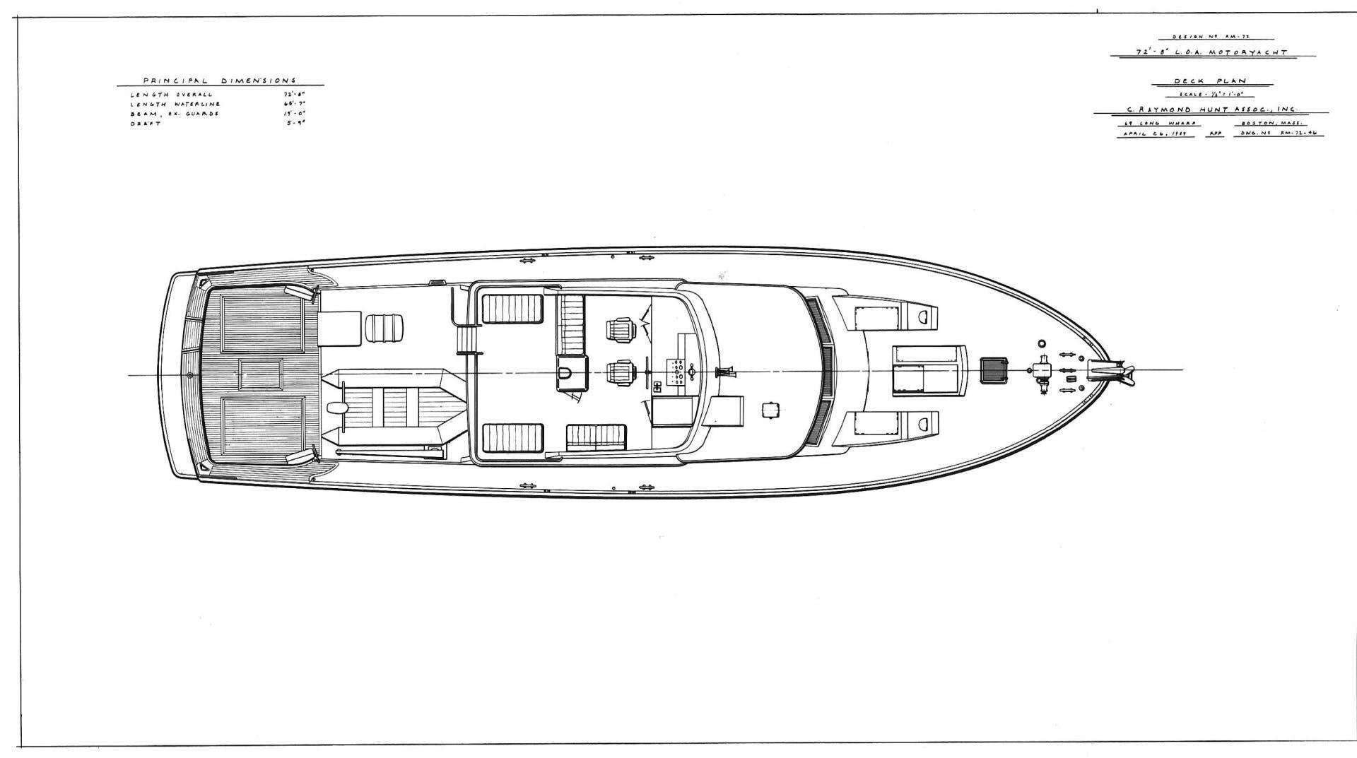 1988 Burger 72' Hunt Design Express Cruiser Assignation | Picture 6 of 30