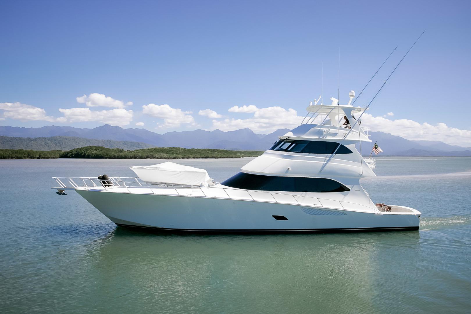 """2012 Viking 76' Enclosed Skybridge """"Reel Power"""""""