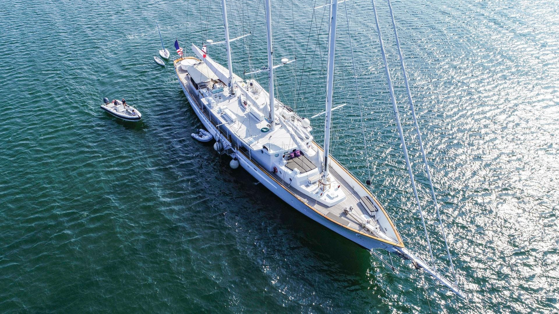 1983 Palmer Johnson 157' Tri-Masted Staysail Arabella  | Picture 2 of 32