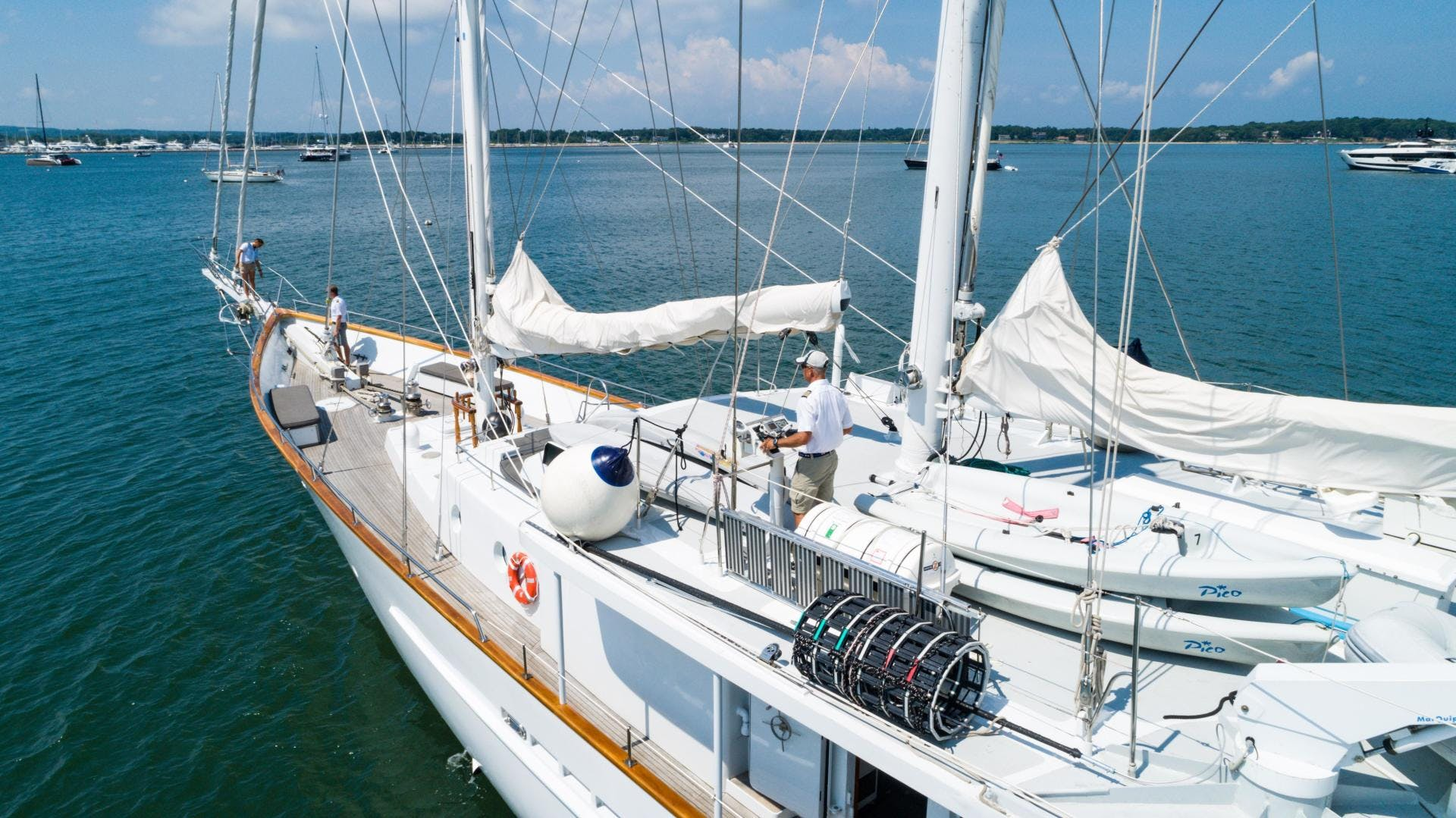1983 Palmer Johnson 157' Tri-Masted Staysail Arabella  | Picture 5 of 32