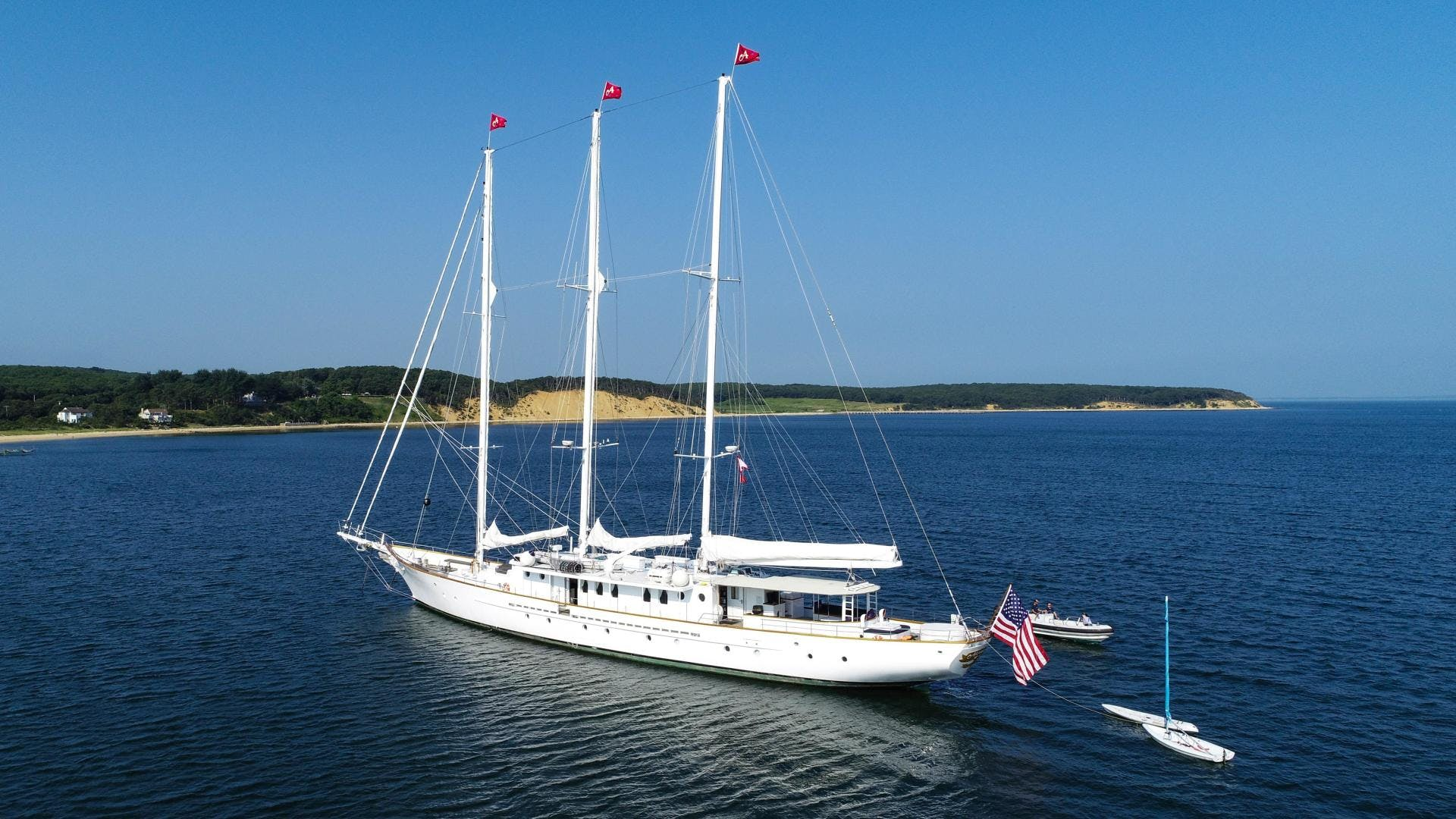 1983 Palmer Johnson 157' Tri-Masted Staysail Arabella    Picture 1 of 32