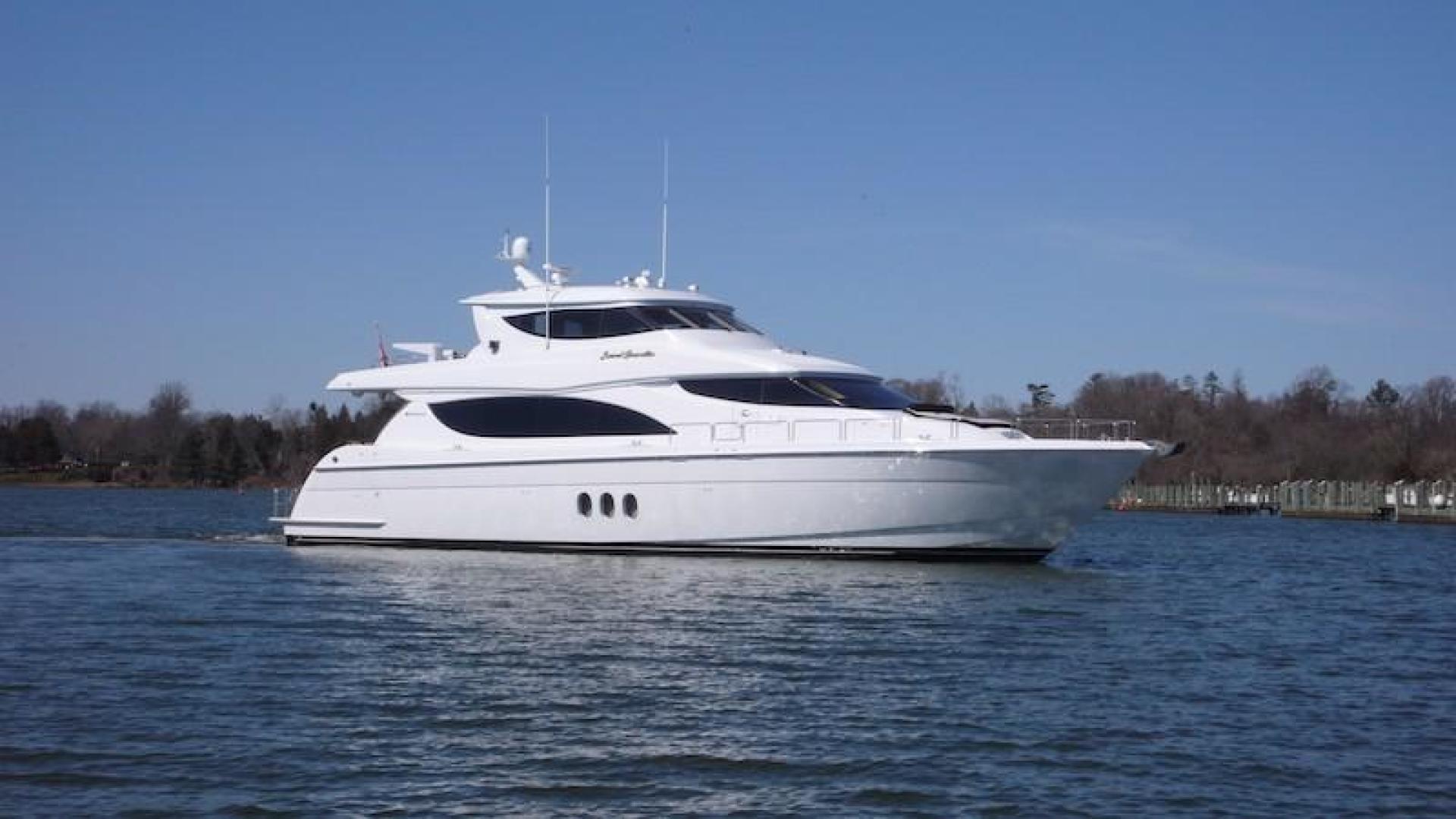 "2005 Hatteras 80' Sky Lounge Motor Yacht ""SECOND GENERATION"""