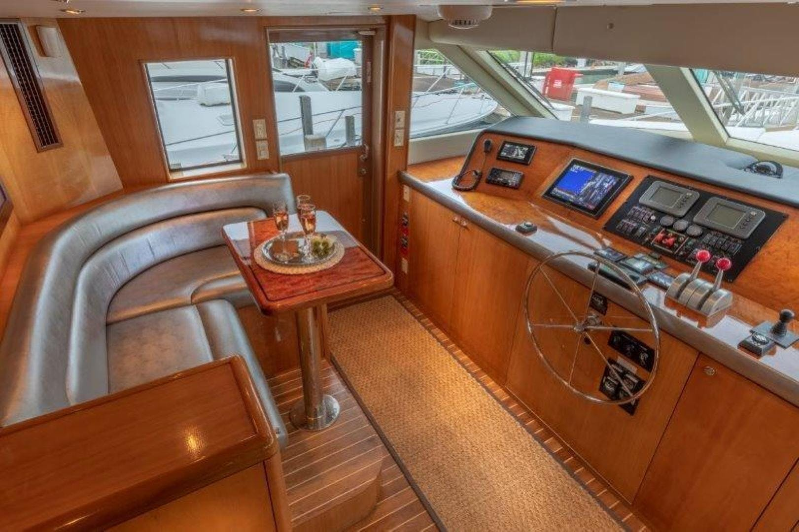 2003 Hatteras 75' Cockpit Motoryacht VICTORY LANE | Picture 7 of 51