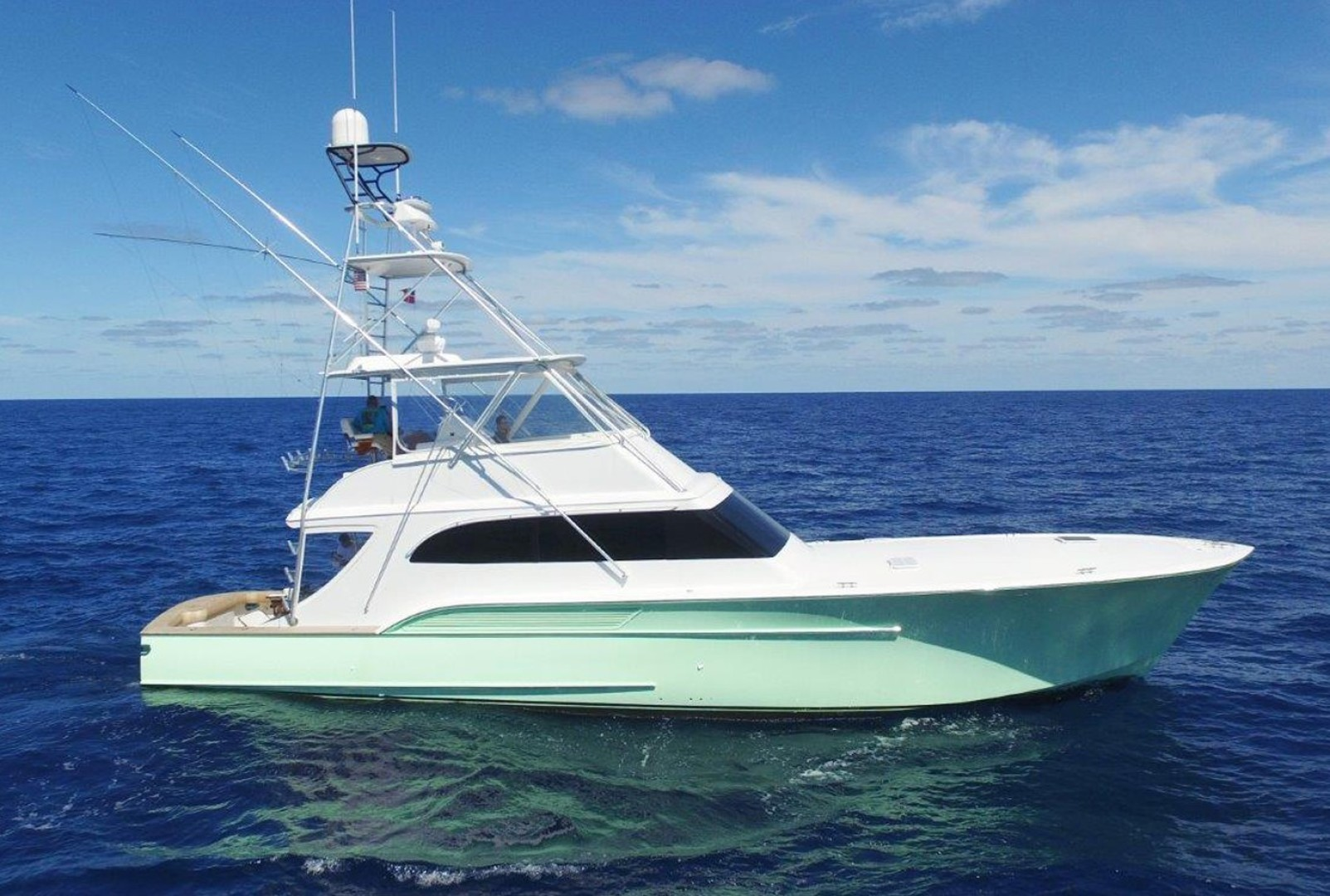 """2004 Sculley 60' Custom 60 - Repowered & Gyro stabilized """"STEALIN TIME"""""""