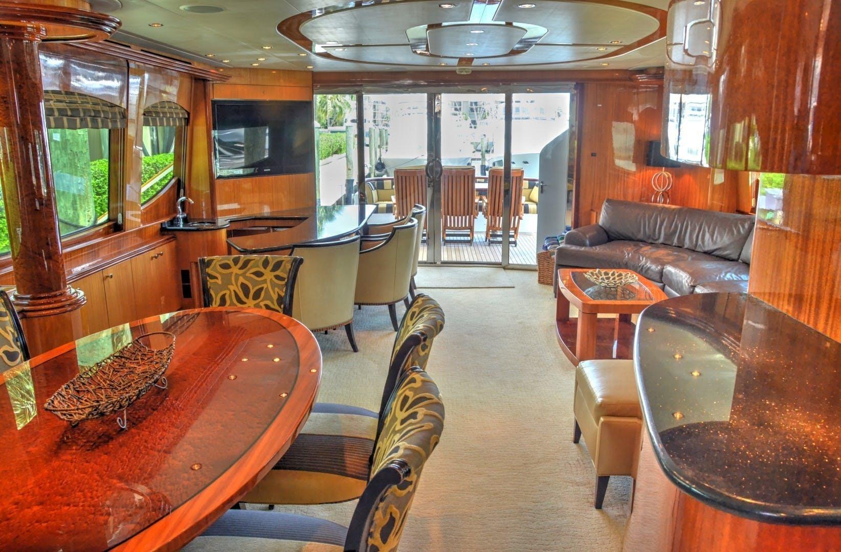 2004 Hatteras 80' Motor Yacht SEA DOZER | Picture 2 of 73