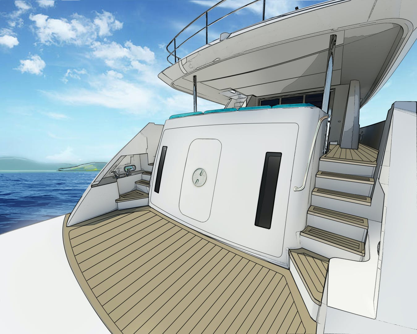 2021 Hatteras 98'  2021 NEW BUILD M98 | Picture 3 of 4