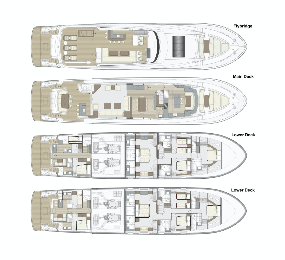 2021 Hatteras 98'  2021 NEW BUILD M98 | Picture 4 of 4