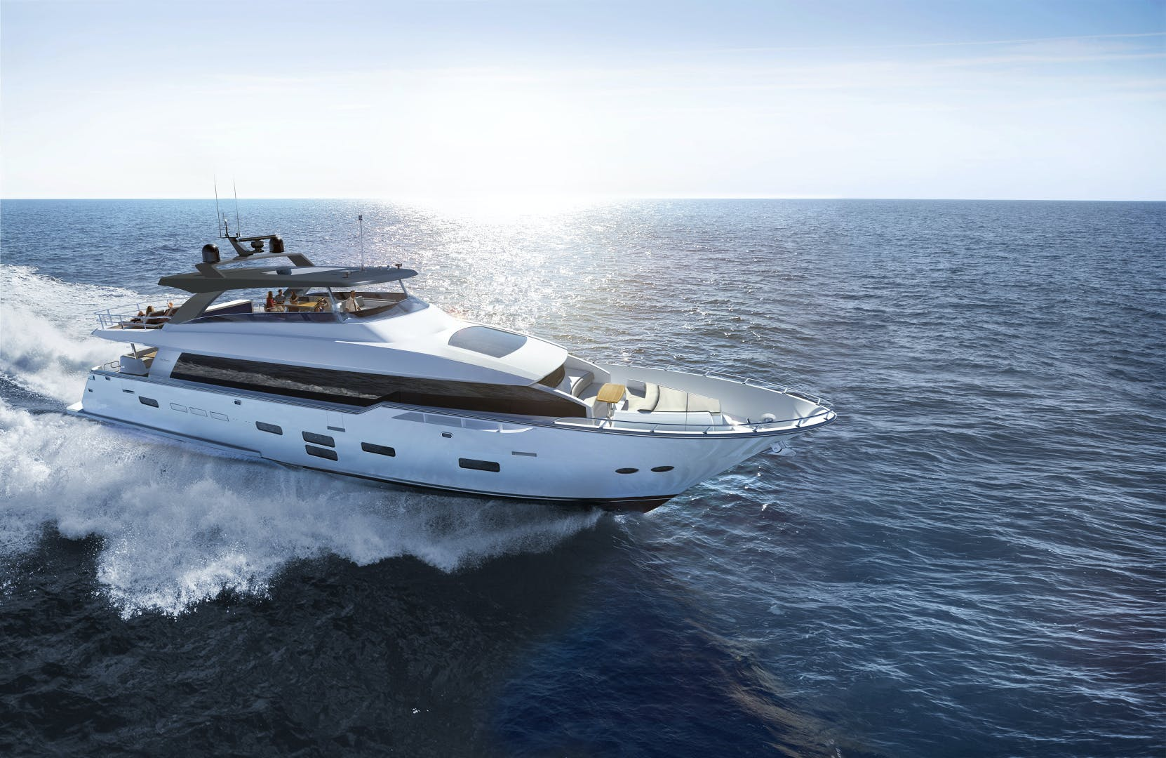 2021 Hatteras 98'  2021 NEW BUILD M98 | Picture 1 of 4