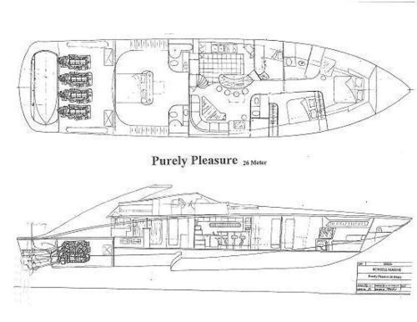 2004 Custom 85' Shoell Express Motor Yacht Purely Pleasure   Picture 6 of 110