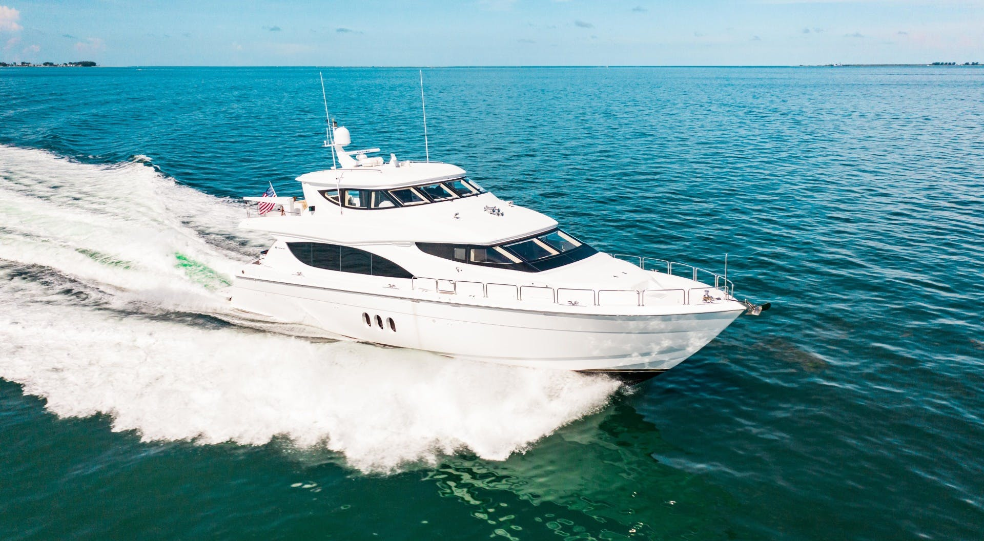 2008 Hatteras 80' 80 Motor Yacht Galati Yacht Sales Trade   Picture 2 of 67