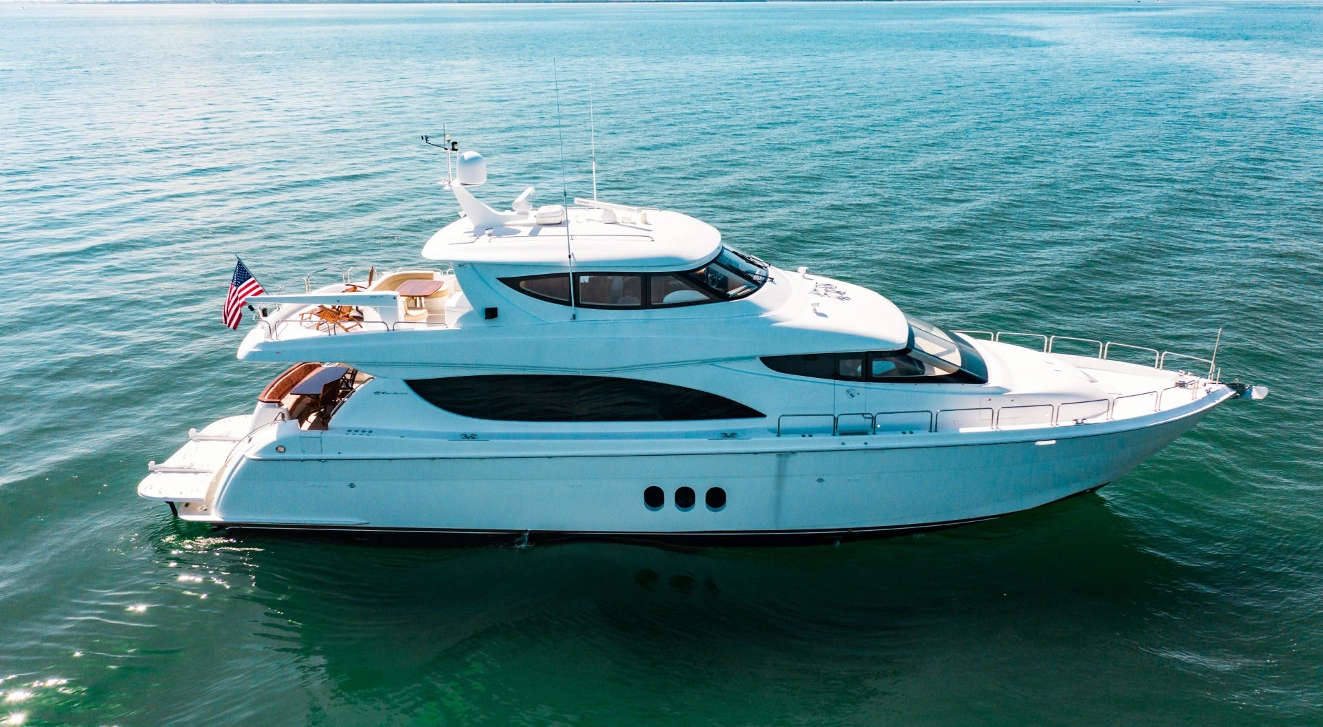 2008 Hatteras 80' 80 Motor Yacht Galati Yacht Sales Trade   Picture 8 of 67