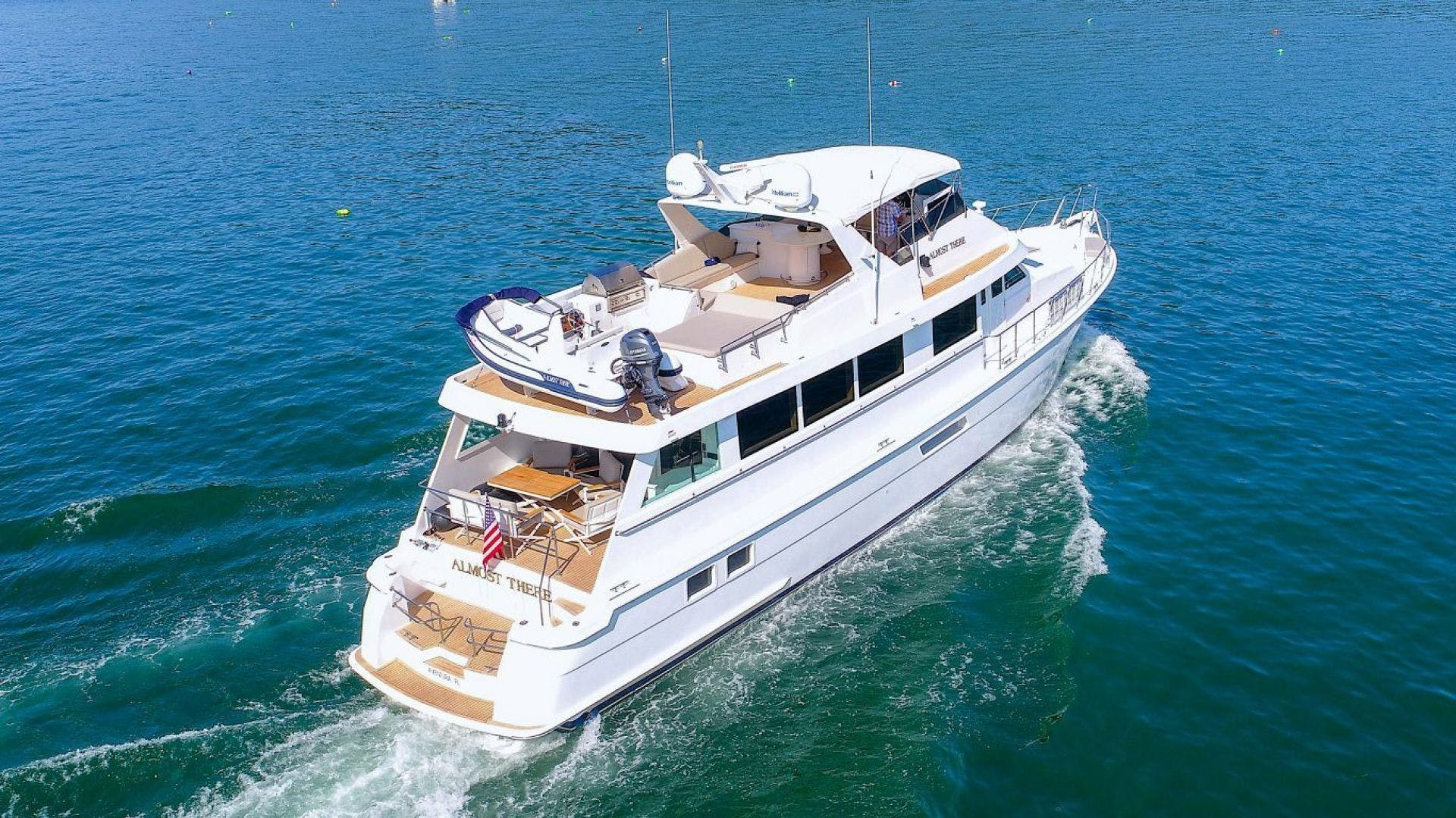 1998 Hatteras 74' Motor Yacht Almost There  | Picture 4 of 53