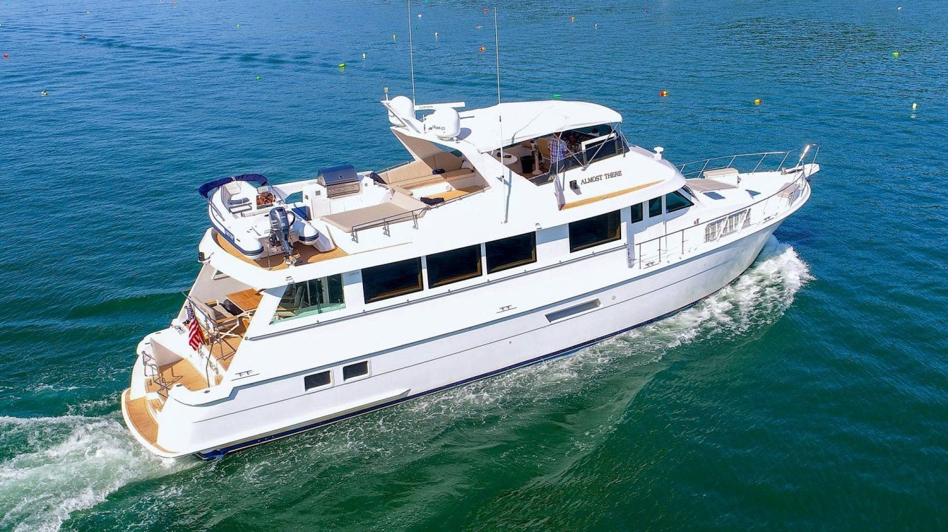1998 Hatteras 74' Motor Yacht Almost There  | Picture 3 of 53