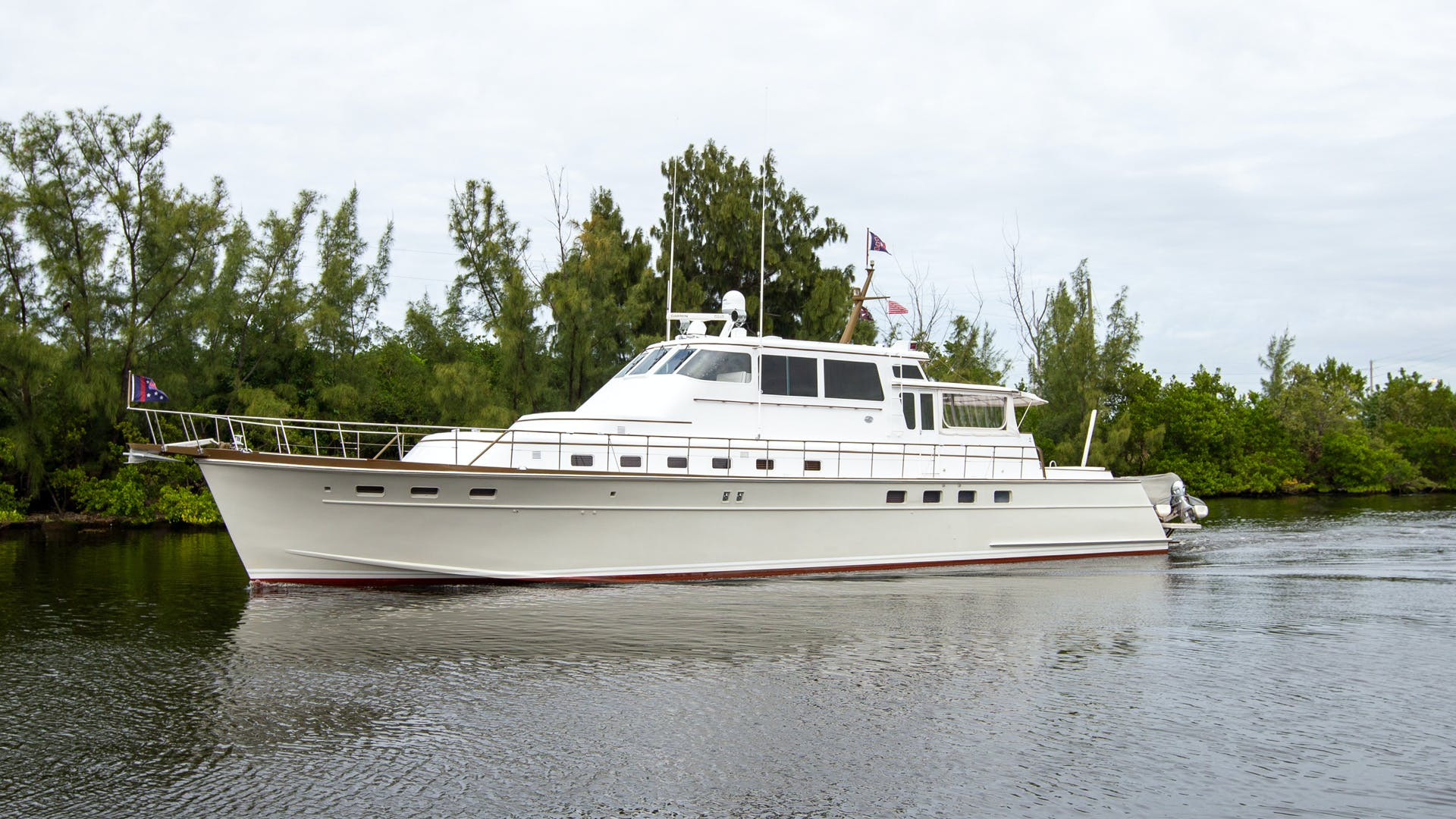 1982 Huckins 78' Motor Yacht Sea Bound | Picture 2 of 76