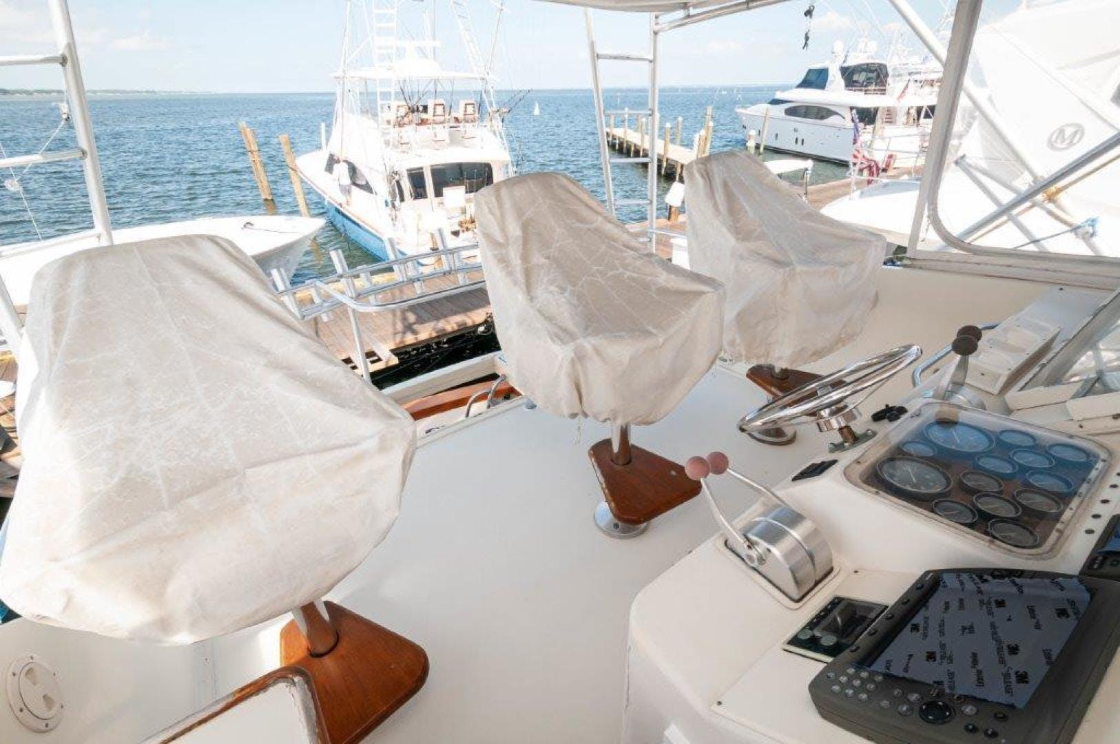 1989 Ocean Yachts 63' 63 Super Sport Reel Blue | Picture 4 of 57