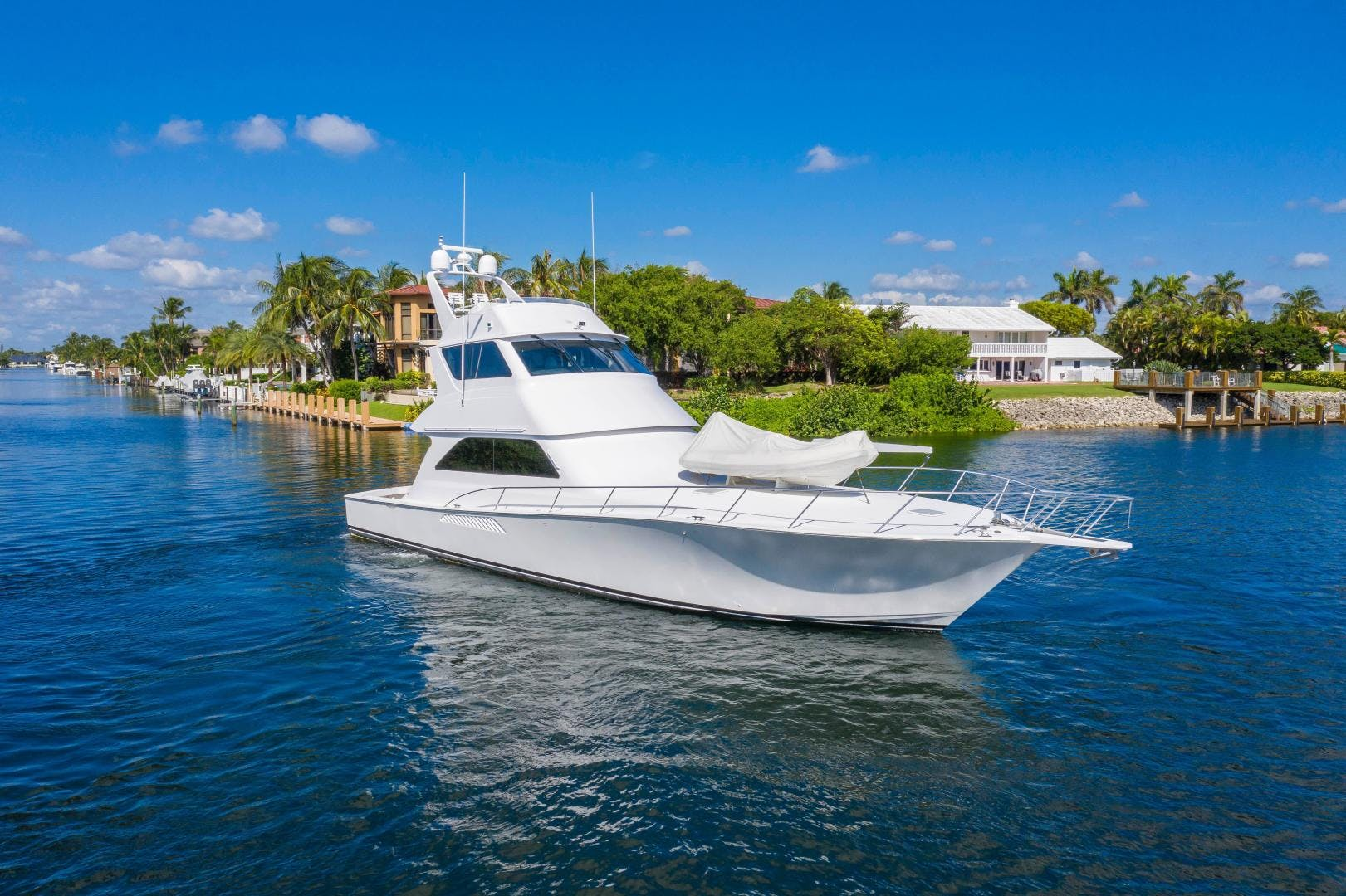 2002 Viking 61' Enclosed Bridge Convertible GOOD TO GO | Picture 7 of 96