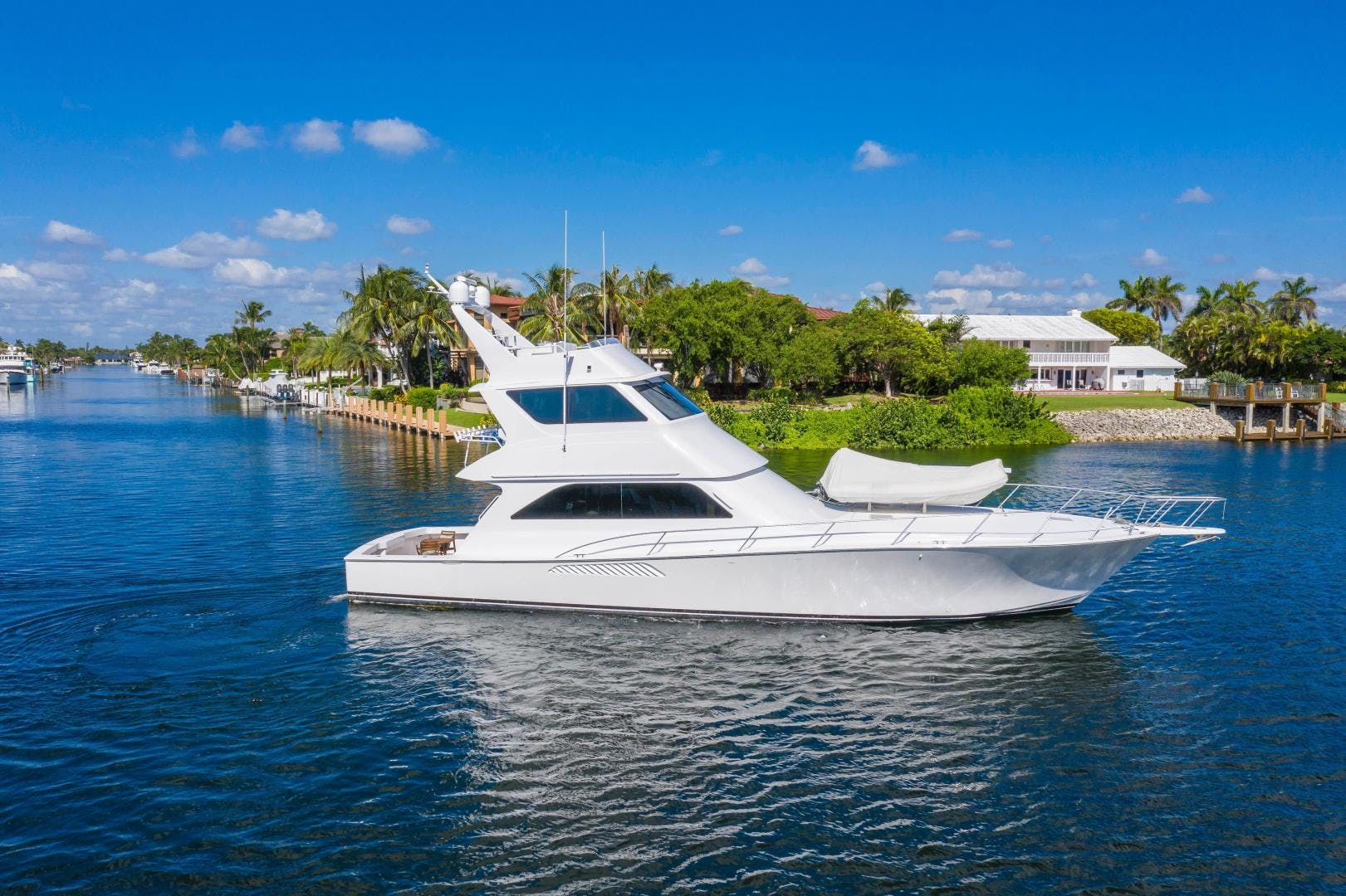 2002 Viking 61' Enclosed Bridge Convertible GOOD TO GO | Picture 4 of 96