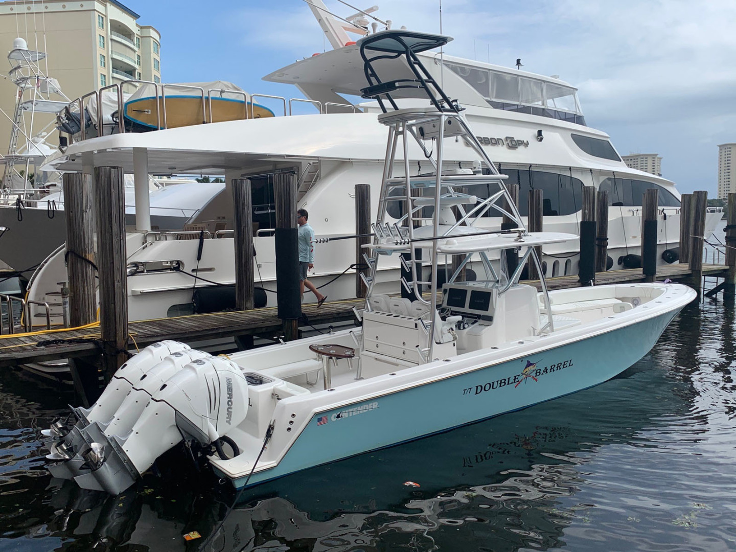 39' Contender 2019 39' Step Hull w/SeaKeeper T/T Double Barrel Name Reserved