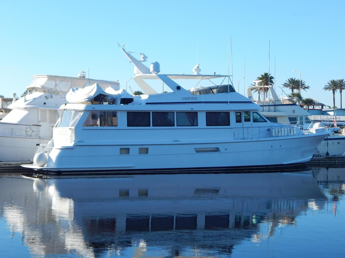 1998 Hatteras 74' Sport Deck Motor Yacht I GOT YOU | Picture 1 of 40