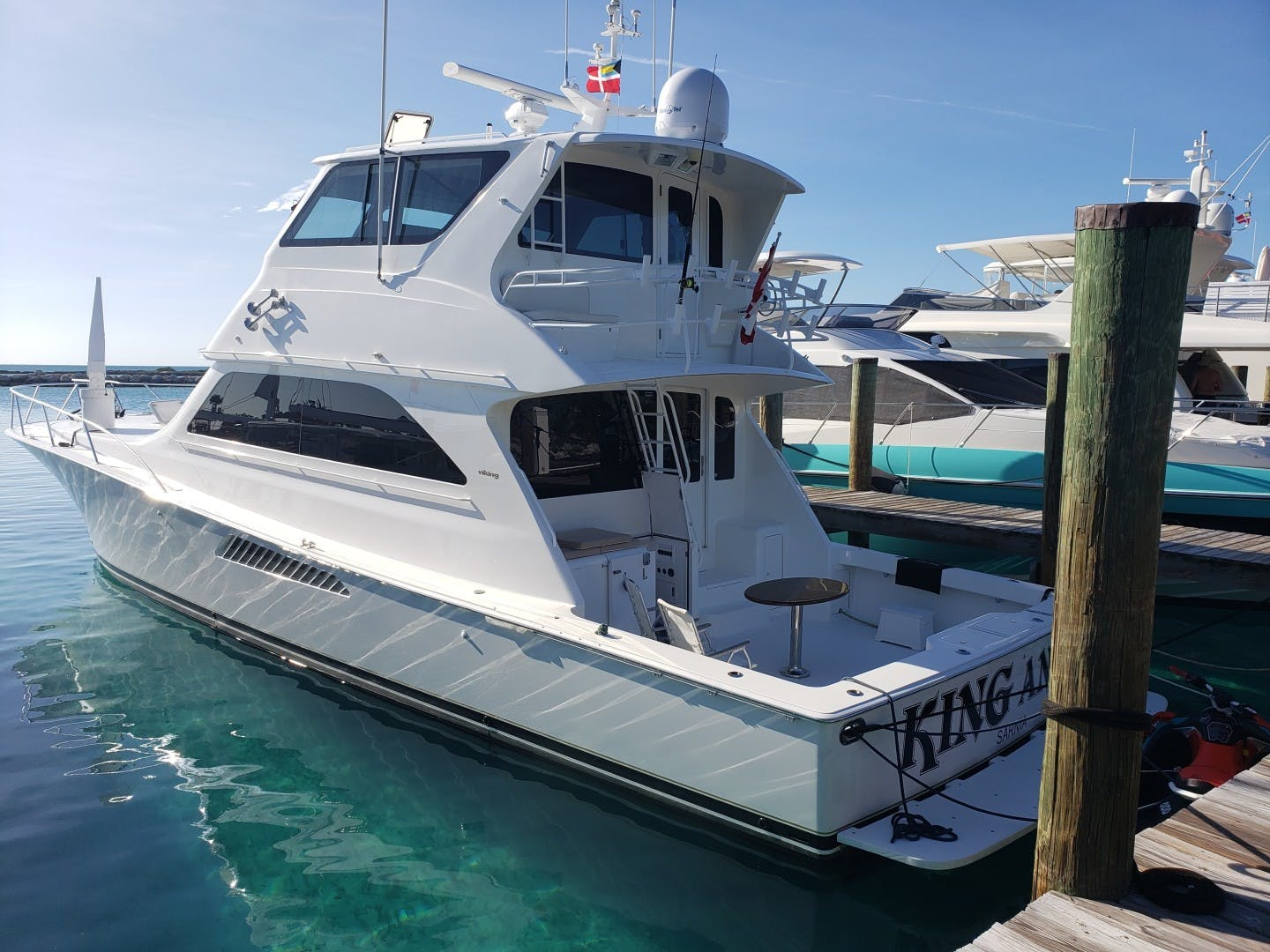 2002 Viking 61' Enclosed Bridge King and I | Picture 5 of 23