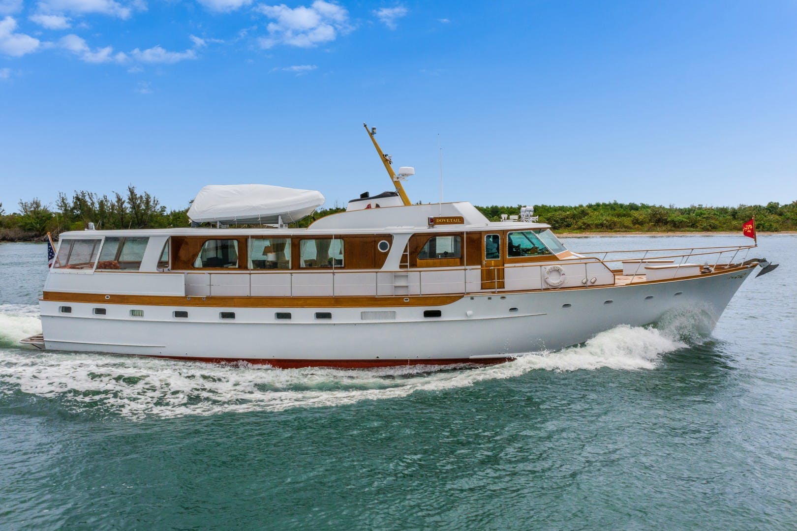 1972 Trumpy 72' Houseboat DOVETAIL   Picture 1 of 31