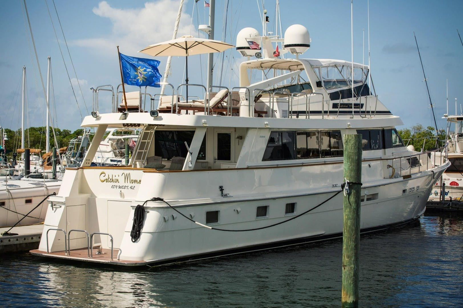 1989 Hatteras 82'  CATCHIN MOMENTS   Picture 6 of 41