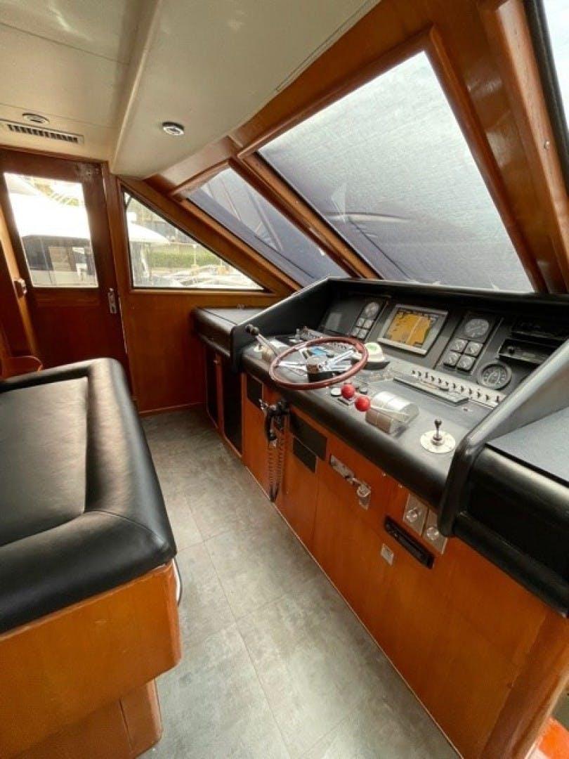 1990 Viking 70' Cockpit M/Y Mr. ED | Picture 2 of 15