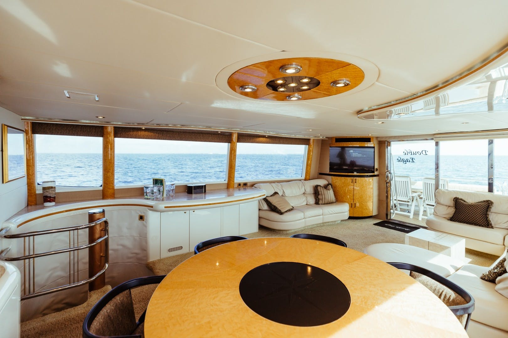 1996 Lazzara Yachts 80' 80 Cockpit Motor Yacht Double Eagle   Picture 4 of 84