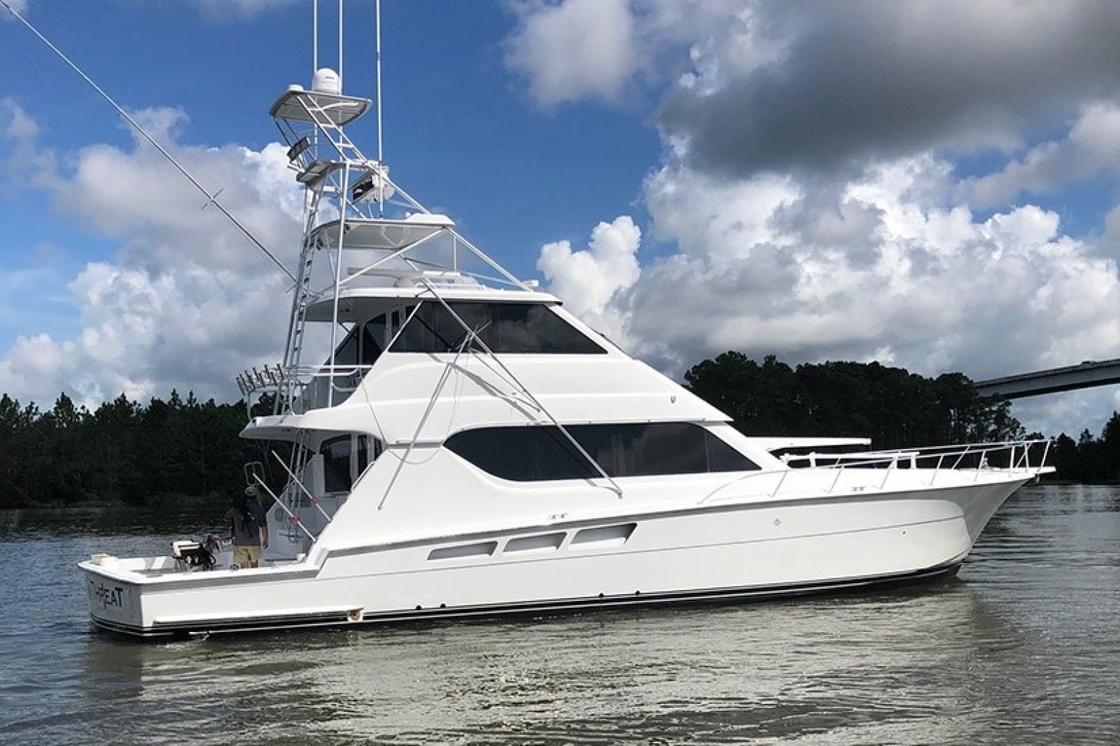 2002 Hatteras 65' 65 Enclosed Bridge Our Trade 2002 65 Hatteras | Picture 1 of 1