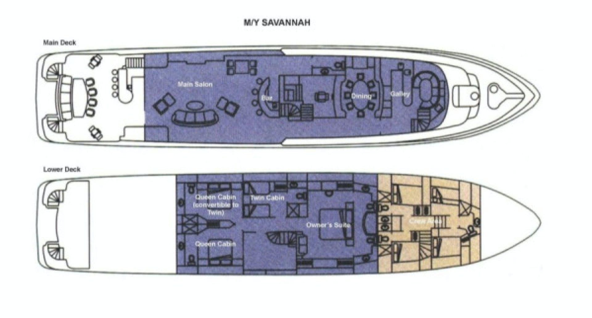 2001 Intermarine 118' Flybridge SAVANNAH | Picture 3 of 19
