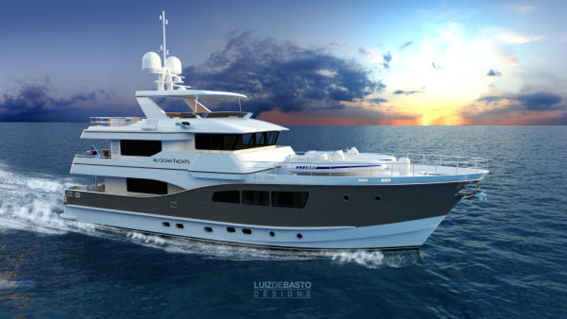 2020 Custom 90' Tri Deck Explorer Yacht  | Picture 1 of 23